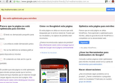 optimiza web